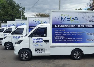Party Mega Eventos Carros Valla 1
